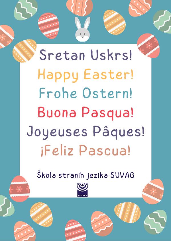 Cestitka Uskrs_Strani jezici SUVAG