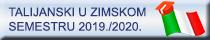Talijanski u zimskom semestru 2019._2020.